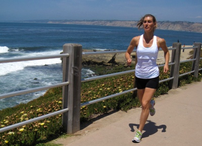 summer run in La Jolla