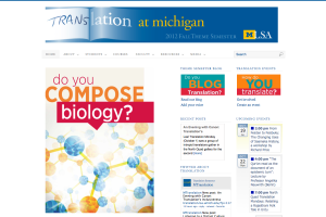 Translation at Michigan: Do you compose biology?