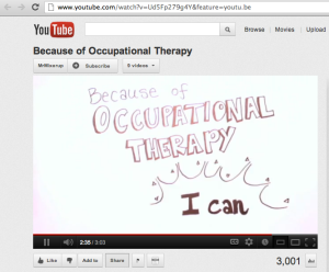 Because of Occupational Therapy ... I Can!