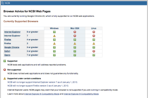 Screenshot of  http://www.ncbi.nlm.nih.gov/guide/browsers