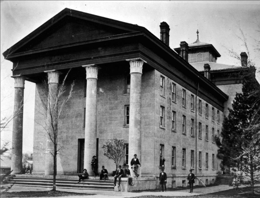 The University of Michigan's first medical department (renamed the School of Medicine in the early 1900s) Image from the Bentley Historical Library