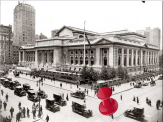 New York Public Library, 1915 from the Copyright Office Collections via Shorpy