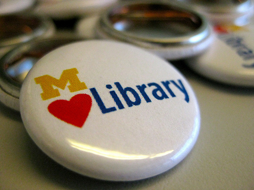 MLibrary Love Pin by MLibrary, 2010 (CC BY 2.0)