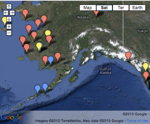 Alaska Dental Health Aide Therapists Locations Retrieved from http://www.anthc.org/chs/chap/dhs/ on November 19, 2013