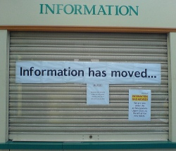 information has moved