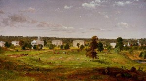 Painting of the U of M campus in 1855 by Jasper Francis Cropsey